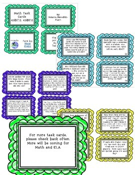 Math Task Cards for NBT.5 and NBT.6