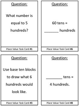 Math Task Cards for Second Grade