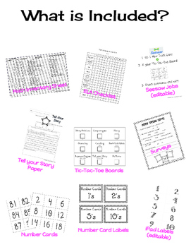 Math Task Cards for Seesaw