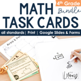 Math Task Cards for the Year (4th Grade)