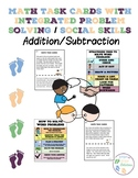 Math Task Cards with Integrated Problem Solving/Social Skills - Addition/Subtrac