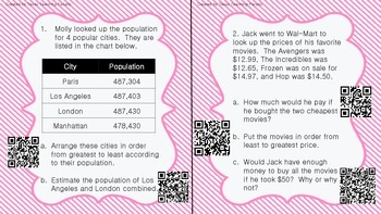 Math Task Cards with QR Codes-STAAR Category 1: Fractions,