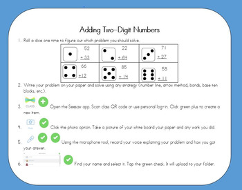 Math Task Cards with Seesaw (place value emphasis)