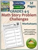 Math Word Problem Worksheets - Print and Digital Versions - Distance Learning