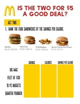 Math Task: Is the McDonalds 2 for $5 a good deal