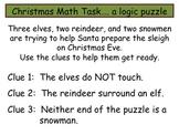 Math Task Logic Puzzle:  Christmas Theme