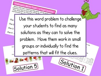 Math Task Logic Puzzle:  February Theme