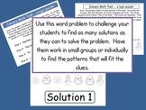 Math Task Logic Puzzle:  January Theme