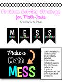 Math Task Problem Solving Strategy {MESS}