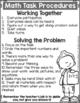 Math Task Procedures FREE