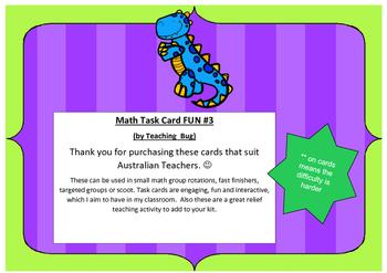 Math Task cards #3