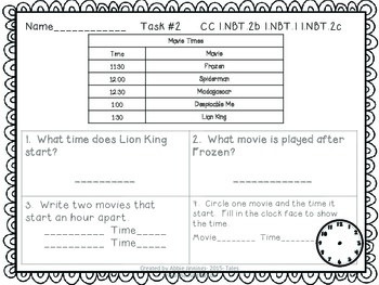Math Tasks- 1st Grade- Set 5