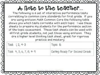 Math Tasks- 1st Grade- Set 6