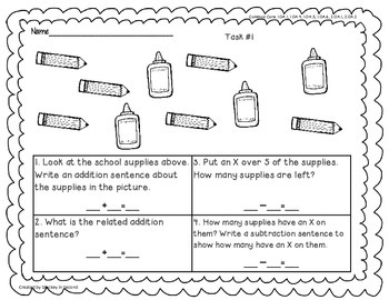 Math Tasks (2nd Grade Set #1)