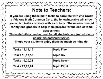 Math Tasks (2nd Grade Set #2)