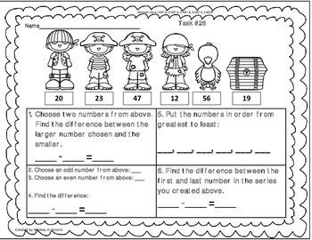 Math Tasks (2nd Grade Set #3)