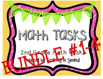 Math Tasks BUNDLE (2nd Grade #1-4) Envision Math Common Core Correlated