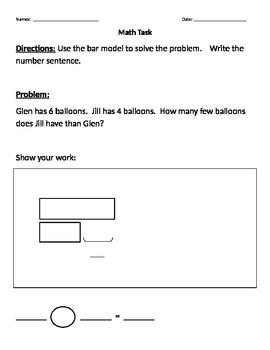 Math Tasks - Bar Models