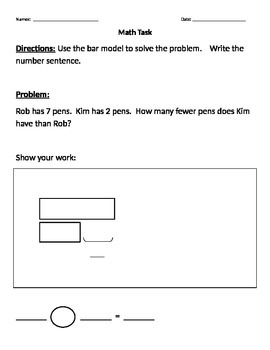 Math Tasks - Bar Models