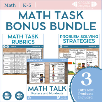 Math Tasks Bonus Bundle
