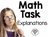 Math Tasks Explanations FREE