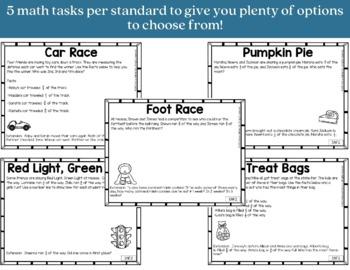 Math Tasks Bundle 3rd Grade