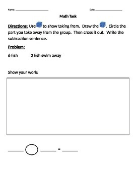 Math Tasks - Taking From