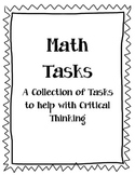 Math Tasks for Critical Thinking