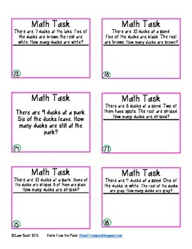 Math Tasks for Interactive Journal Sampler