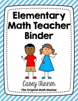EDITABLE Elementary Math Teacher Binder