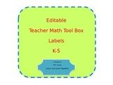 Math Teacher Toolkit Labels
