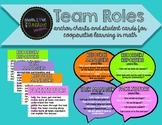 Math Team Roles (Anchor Chart Posters & Student Cards for