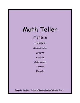 Math Fortune Teller Game