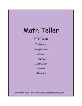 Math Fortune Teller Game