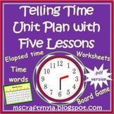 Time Unit Plan - hour - half-hour - quarter-hour