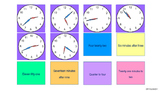 Math Telling Time Warm Up Activity