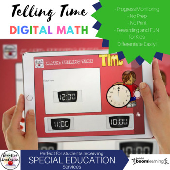 Math: Telling Time to the Hour Digital Task Cards