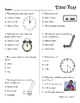 Math: Telling Time to the hour and half hour Study Guide and Test