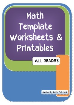 Math Template Worksheets and Printables