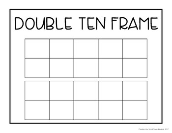Math Templates - Number Bonds and Ten Frames