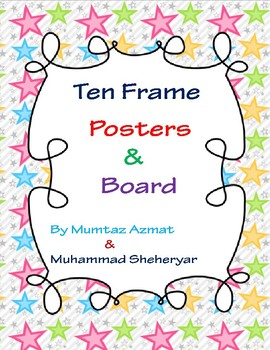 Math Ten Frame Posters and Board with Counters