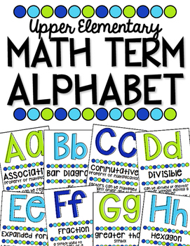 Math Term Alphabet - Upper Elementary