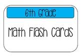 Math Term Flash Cards
