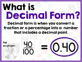 Math Terms & Definitions - Colorful Math Posters - DECIMAL FORM