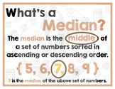 Math Terms & Definitions - Colorful Math Posters - MEDIAN