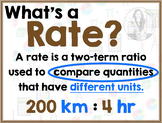 Math Terms & Definitions - Colorful Math Posters - RATE
