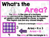 Math Terms & Definitions - Colorful Math Skill Posters - AREA