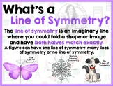 Math Terms & Definitions - Colorful Posters - LINE OF SYMMETRY