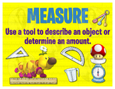Math Terms & Definitions Fun SUPER MARIO Video Game Themed Poster - MEASURE