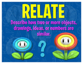Math Terms & Definitions Fun SUPER MARIO Video Game Themed Poster - RELATE